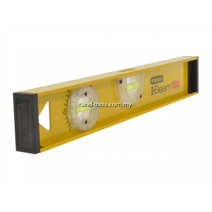 600mm I-Beam 180 Aluminium Spirit Level, 3 Vials