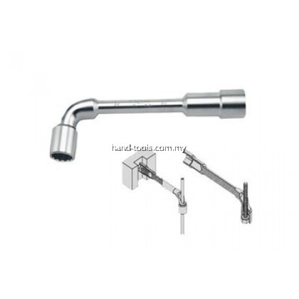 Toptul AEAE1111 11MM (143mm L) Angled Socket Wrench (Satin)6 point socket at long end, 12 point at the short end