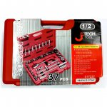 Jetech SKD1/2-37SP 37 Piece 1/2˝Drive 12P Metric Socket Set (8-32mm)