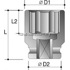 "105mm 1-1/2""DR.STANDARD LENGTH IMPACT SOCKETS-6PT"