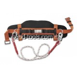 Work Positioning Belt Build-in with 1-pcs carabiner with 2m Polyamide Lanyard & 1-pcs snap hook