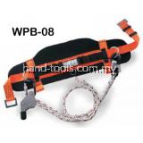 Working Position Belt -2-pcs lateral positioning D-rings-Orange/Black