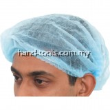 DISPOSABLE HEAD COVER MOB CAP BLUE(100PCE)