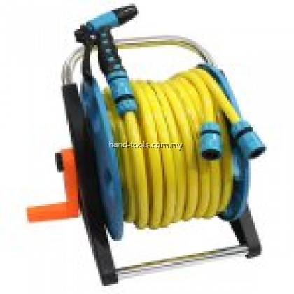 PORTABLE REEL CART WITH 20M GARDEN HOSE Size:1/2˝