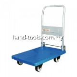 "TAHAN PVC PLATFORM FOLDABLE HAND TRUCK 730MM (L) X 490MM (W) 150KG (MAX. LOAD) WITH 4"" NYLON CASTER WHEELS"