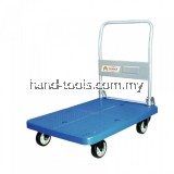 "TAHAN PVC PLATFORM FOLDABLE HAND TRUCK 900MM (L) X 600MM (W) 300KG (MAX. LOAD) WITH 5"" NYLON CASTER WHEELS"