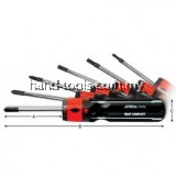 JETECH SI-107 6 IN 1 INTER-CHANGEABLE SCREWDRIVER SET (-)4.0, (-)5.0, (-)6.0, (+)#1, (+)#2, (+)#3