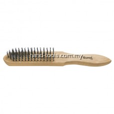 6 ROW STEEL WIRE BRUSH Natural hardwood handle Tempered carbon steel bristles 290MM(L)(33-WB106)