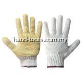 PVC DOTTED COTTON YARN GLOVE Slip resistance Soft and endurable X 12PAIR(97-HG520)
