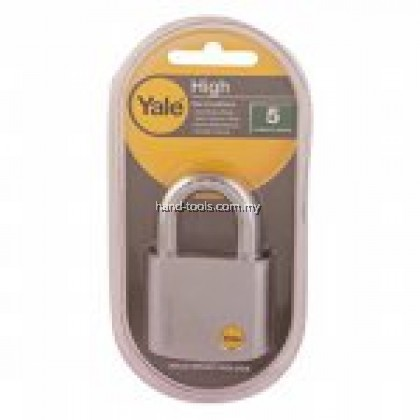 Yale Y120/50/127/1 Silver Series Outdoor Brass / Satin Padlock (Baron Shackle) 50mm