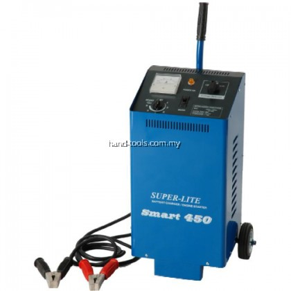 Super Lite Smart 450 Battery Charger / Engine Starter Cranking Voltage:12V ~ 24V Charging Current:1 ~ 60A (Adjustable)
