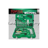 TOPTUL GCAI150R 150 Pieces 1/4' & 1/2'DR 6PT Socket & Tool Set