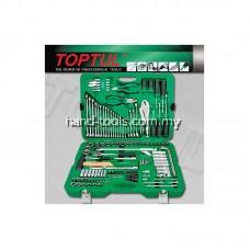 TOPTUL GCAI150R 150 Pieces 1/4' & 1/2'DR 6PT Socket & Tool Set