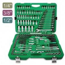 "Toptul GCAI216R 216PCS 1/4"", 3/8"" & 1/2"" DR. Flank Socket Wrench Set"