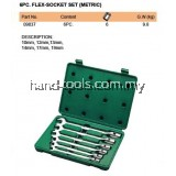 FLEX-SOCKET SET (METRIC), 6PC