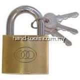 Tri-Circle Brass Padlock 265, Size 50mm,