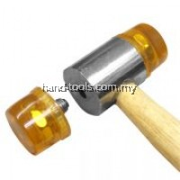 25mm /260mm(L)PLASTIC MALLET HAMMER with Wooden Handle Used to strike materials that must not be damaged, like gears, bearings, keys, pulleys, etc(66-PM625R)