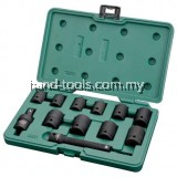 "SATA-09009 12 Pc. 1/2"" Drive 6 Point Metric Impact Socket Set(10, 11, 13, 14, 17, 19, 21, 22, 23, 24mm)"