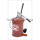 GEAR OIL DISPENSER Wheel mounted tank of 22 litres equipped with a hand operated pump(FG1028)