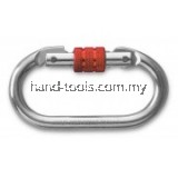 Safety Carabiner self closing steel carabiner comes with aluminum quarter turn manual screw locking system. suitable to install with energy absorber, lanyards or any fall protection accessories(800)