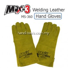 """14"""" MAX -SAFE Welding Leather Hand Glove MS-360"""