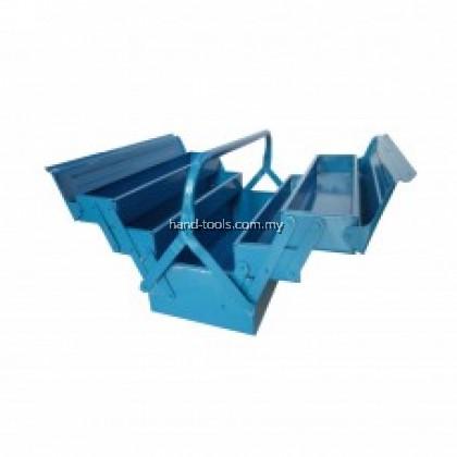 Metal Tools Box Professional 3 Tiers 5 Trays Cantilever Tool Box (420mm x 200mm x 200mm)