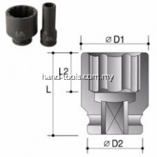 "ACTION 3/4"" Drive 6-Point Metric Standard Lenght Impact Socket"