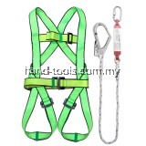 91-SH087 SAFETY HARNESS  With Shock Absorber Features: Alloy steel carabiner 100% polyester belt Adjustable tight strap Big forged snap hook Application: For fall protection on construction site