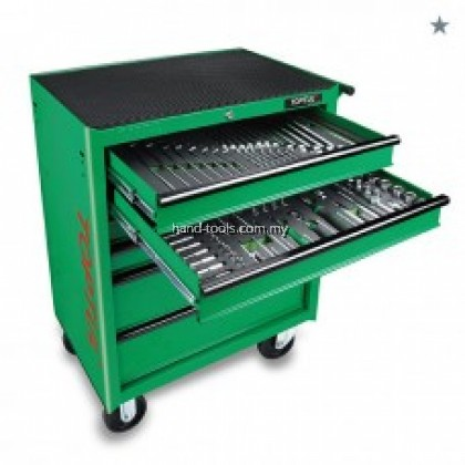 toptul ge20815 208PCS MECHANICAL TOOL SET W/6-DRAWER MOBILE TOOL TROLLEY(EPE FOAM TRAYS)