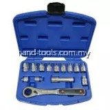 kingtoyo kt-3014gt 14 PCS GO-THRU SOCKET & WRENCH SET