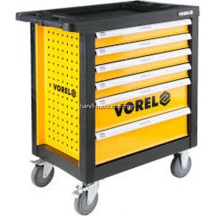 VOREL 6 DRAWER TOOL CART WITH TOOLS 177PCS ROLLER CABINET