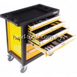 VOREL 6 DRAWER TOOL CART WITH TOOLS 177PCS ROLLER CABINET
