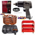 """MR MARK 1/2"""" TWIN HAMMER PROFESSIONAL DR.AIR IMPACT WRENCH +MR MARK MK-4631 31PCS DR.SOCKET WRENCH+WORKER 3 LAYERS TROLLEY+WORKER WK-8807 6 PCS GO-THROUGHT S/DRIVER SET"""