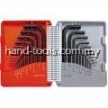 Kennedy.KEN6011060K COMBINATION SHORT ARM MM/AF HEX KEY SET (20-PCE)