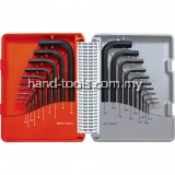 Kennedy.KEN6011060K COMBINATION SHORT ARM MM/AF HEX KEY SET (20-PCE)