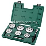 Sata 09703 END CAP OIL FILTER WRENCH SET, 8PC