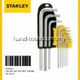 stanley 69-119 9pc chrome hex key / Allen Key Set