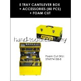 STANLEY STMT74158-8 5 Tray Cantilever Box + 80pcs Accessories