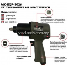Mr.Mark MK-EQP-5026 1/2' Twin Hammer Air Impact Wrench