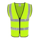 99-SV102G REFLECTIVE SAFETY VEST Green colour (ZIPPER FRONT)