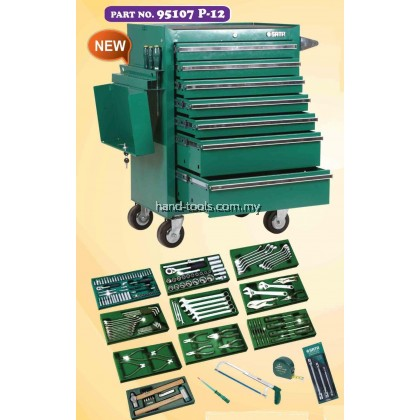 SATA 95107P12 213 PCS TOOLS SET WITH 7 DRAWER ROLLER CABINET
