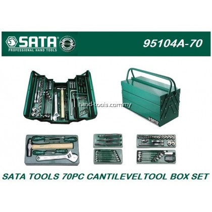 sata 95104a-70  70pcs Cantilever Mechanic Tool Chest & Tray Set