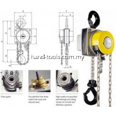 YALELIFT YL5000 5 TON 360 DEGREE MANUAL CHAIN HOIST
