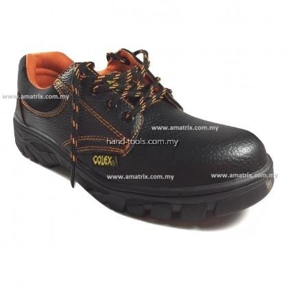 COLEX ZZ200 Steel Toe Cap Mid Sole Low Cut Safety Shoes - Black