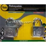 Yale Y118D/40/121/2 2 Pcs 40mm Chrome Square Disc Padlock