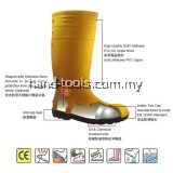 MR.MARK MK-SSS-9400 PVC Safety Rain Shoes (YLW)
