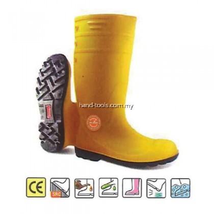 MR.MARK MK-SSS-9300 PVC Safety Rain Shoes (YLW)