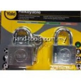 Yale Y118D/50/127/2  2 Pcs 50mm Chrome Square Disc Padlock