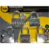 Yale Y118D/50/127/5 5 Pcs 50mm Chrome Square Disc Padlock