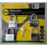 YALE Y118D/50/127/4  4pce Chrome Plated Rekeyable Keyed Alike System Padlock
